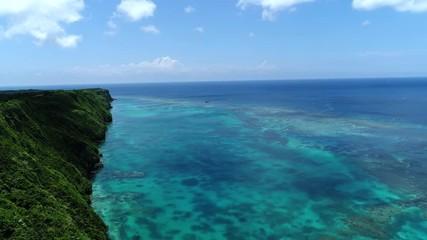 Wall Mural - 伊良部島の海 三角点周辺の海 ドローン撮影