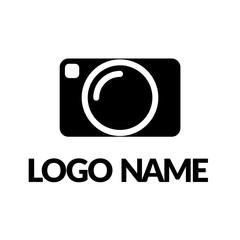 camera logo vector icon illustration