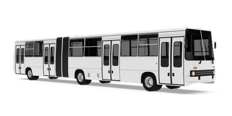 Articulated City Bus Isolated