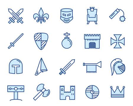Mittelalter Vector Icon Set