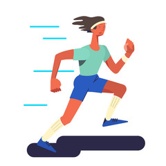 The runner. Running sportsman in flat with gradient design. It can be used for flyer, banner to sporting events, packing for sports goods. Vector illustration.