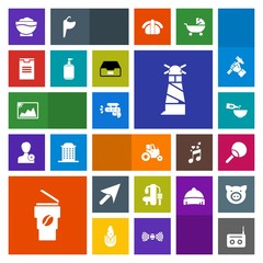 Modern, simple, colorful vector icon set with image, agriculture, play, beacon, frame, hot, drink, lighthouse, tennis, sign, table, media, dinner, web, field, fitness, restaurant, gun, farm, sea icons