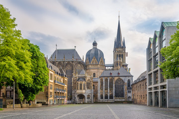 View at the Cathedral of Aachen - Germany