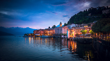 Twilight over Bellagio, Lake Como, Italy