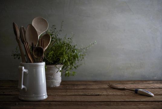 Rustic Kitchen Still Life
