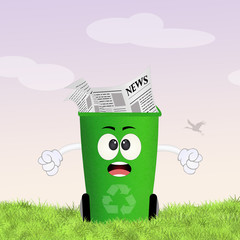 illustration of paper garbage