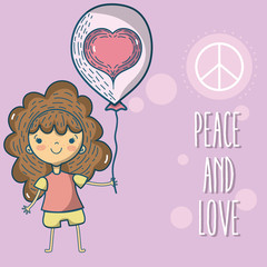 Peace and love cartoons