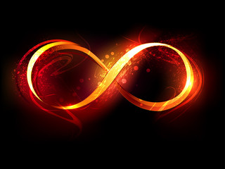 fire symbol of infinity Wall mural