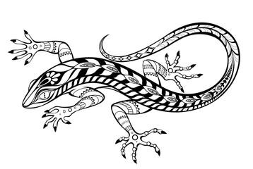 Stylized lizard