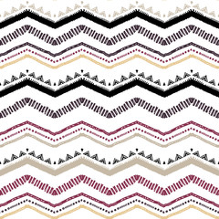 Seamless ethnic zigzag chevron pattern