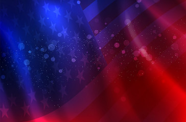 Abstract background of flying American flag