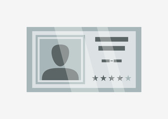 Identification id card icon. Name tag badge, employee pass card vector illustration.