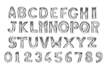English alphabet and numerals