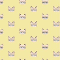 Vector grumpy cat pattern.