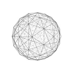 Sphere. Architecture facade design isolated on white background, 3d illustration.