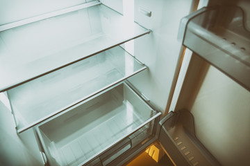 Empty Refrigerator At Night
