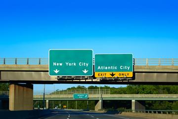 New jersey 295 detour  New York or Atlantic city