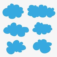Vector clouds. Cartoons.
