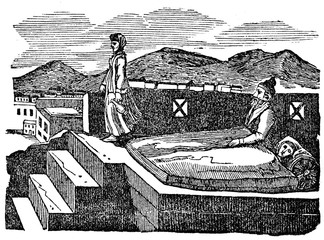 Flat roof - persian bedroom in the summer (from Das Heller-Magazin, May 24, 1834)