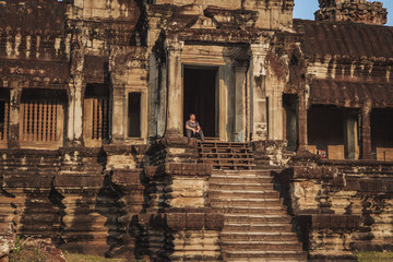The majestic and ancient Angkor Wat.