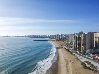 Praia de Iracema beach from above, Fortaleza, Ceara, Brazil