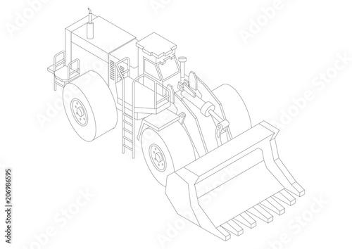 Concrete Mixer Truck 3d Blueprint