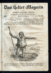 Arctic explorer John Ross in his polar costume (from Das Heller-Magazin, May 10, 1834)