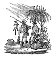 Hunting in Brazil (from Das Heller-Magazin, May 10, 1834)