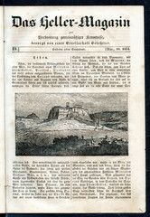 Athens with Acropolis, Greece (from Das Heller-Magazin, May 10, 1834)