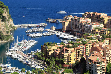 Fontvieille distric and harbor, Monte Carlo, Monaco
