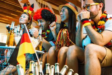 Deutsche Fußball Fans Jubeln