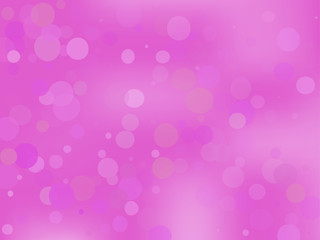 Pink-violet gradient background with bokeh effect. Abstract blurred pattern. Light background Vector illustration