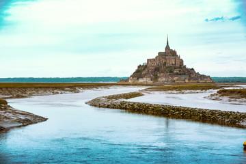 beautiful famous castle Mont-Saint-Michel