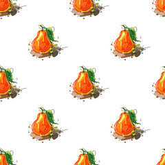 Pear seamless pattern. Vector illustration