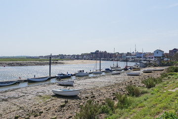 Wells-next the -Sea harbour and quayside at low tide