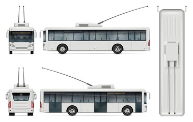 Trolleybus vector template