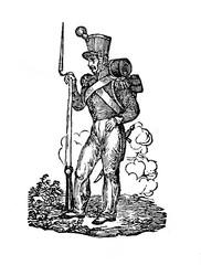 Grenadier, 1834 (from Das Heller-Magazin, March 29, 1834)