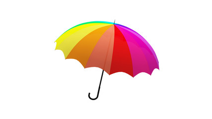 umbrella rotation animation 3d illustration render