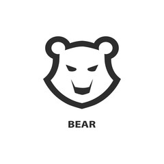 Bear head icon. Template for your project