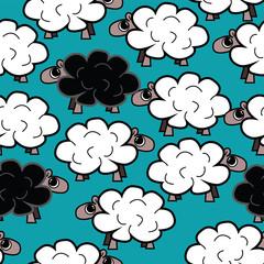 Vector sheep pattern