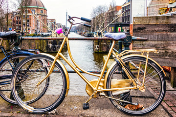 Bicycles abound in Amsterdam