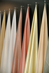 the colored hanging fabrics