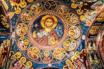 Aluminium Prints Cyprus Ceiling painting in Monastery of Lampadistis