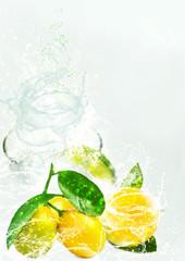 Lemon juice. Concept illustration.