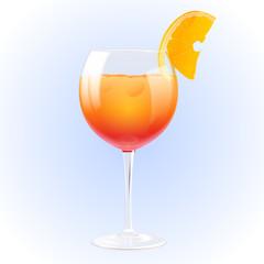 Summer cocktail vector illustration