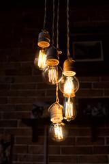 Five incandescent lamps
