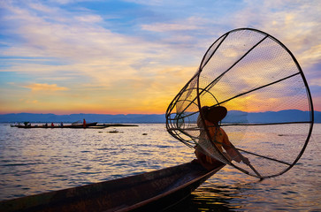 Enjoy the evening on Inle Lake, Myanmar