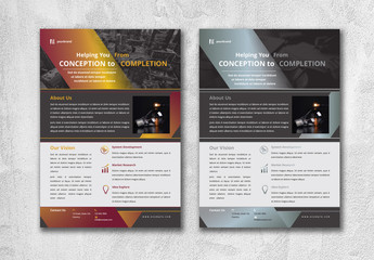 Flyer Layout with Gradient Elements