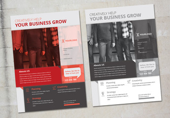 Flyer Layout with Color Overlays