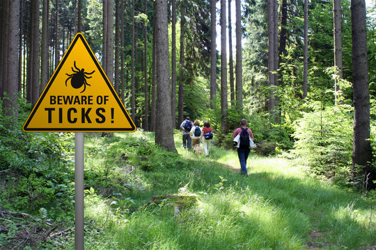 Beware of ticks in infested area with walkers
